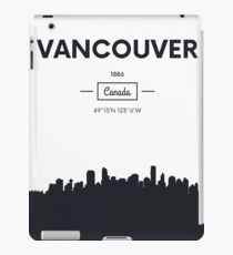Poster city skyline Vancouver iPad Case/Skin