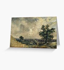 John Constable - English Landscape, Undated Greeting Card