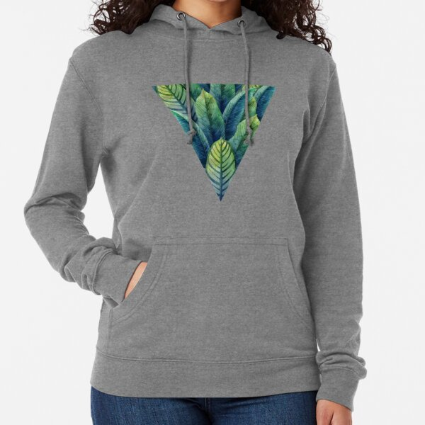 Watercolor heliconia leaves in the shape of triangle Lightweight Hoodie