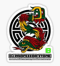 DJ Professor Stone - July 2012 Merch ver 777 black Sticker