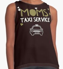Moms taxi service funny t-shirt Contrast Tank