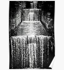 Fallendes Wasser Poster