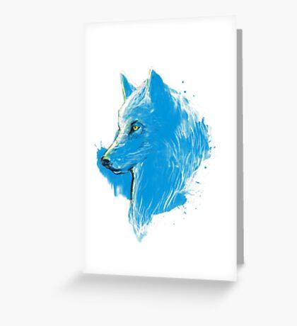 sumi wolf blue Greeting Card