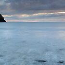 Talisker Point Sea Stack at Sunset by Maria Gaellman