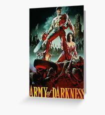 army of darkness poster Greeting Card