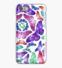 Watercolor butterfly pattern iPhone Case/Skin