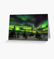 Aurora Borealis Over Hudson Bay Greeting Card