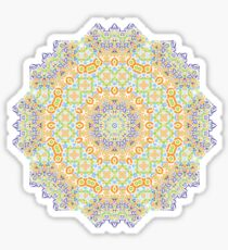 Psychedelic jungle kaleidoscope ornament 12 Sticker