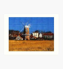 Cley Windmill Art Print