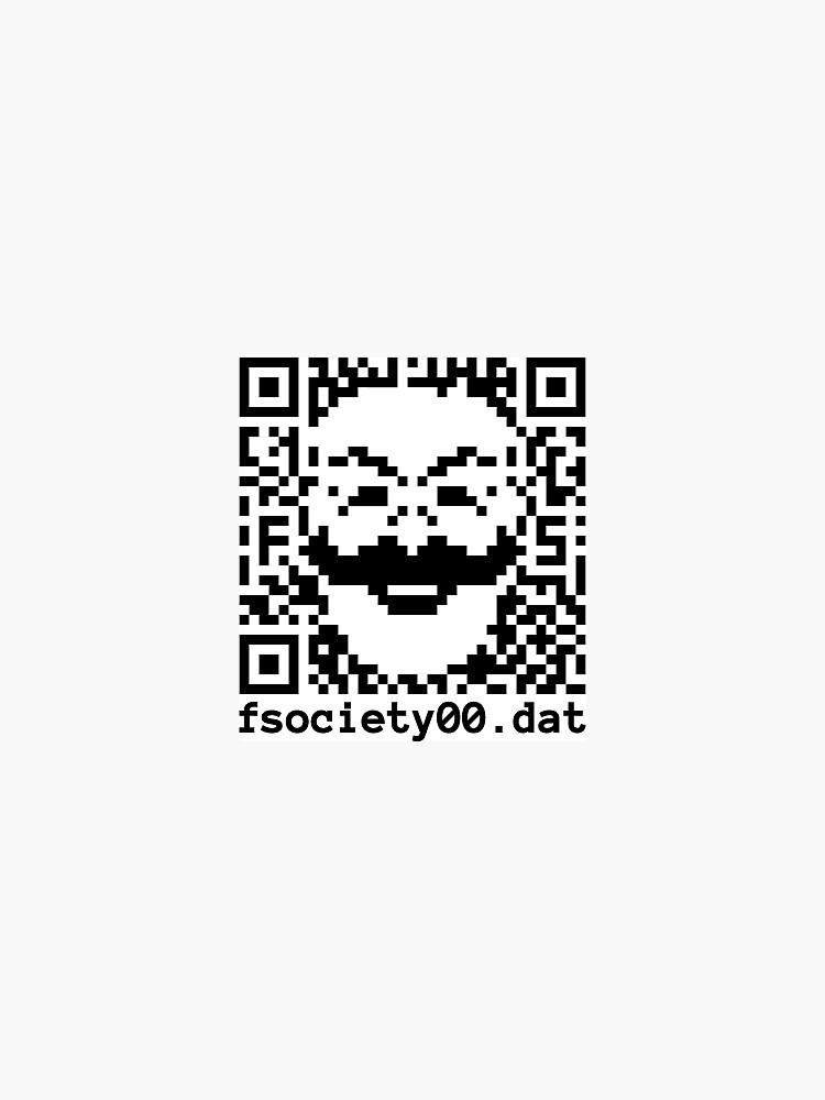 fSociety.dat QR Sticker by TheSenate