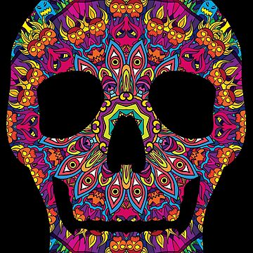 Day of the Dead - Psychedelic Skull 02 by grebenru