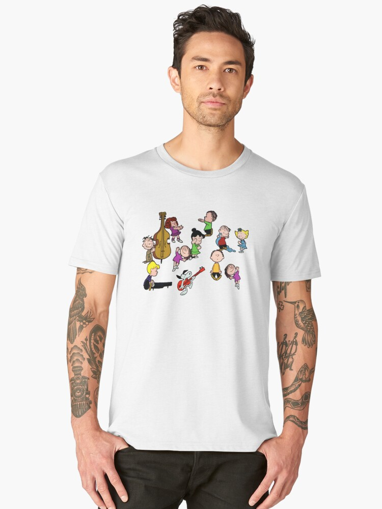 a charlie brown christmas dance mens premium t shirt by tpejoves redbubble