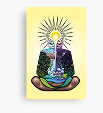 Psychedelic meditating Nature-man Canvas Print