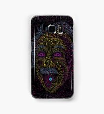 Acid Scientist tongue out psychedelic art poster Samsung Galaxy Case/Skin