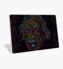 Acid Scientist tongue out psychedelic art poster Laptop Skin