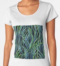 Watercolor tillandsia cyanea Women's Premium T-Shirt