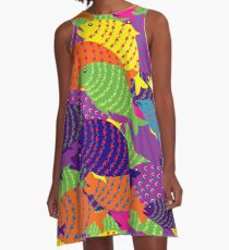 colored fish A-Line Dress