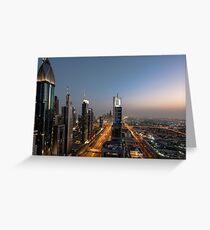 Dubai Sheikh Zayed road Greeting Card