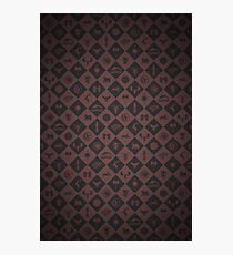 House Sigil Pattern (Burgundy) Photographic Print