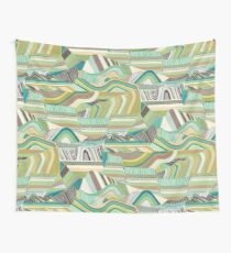 Geological Landscape Embroidery Wall Tapestry