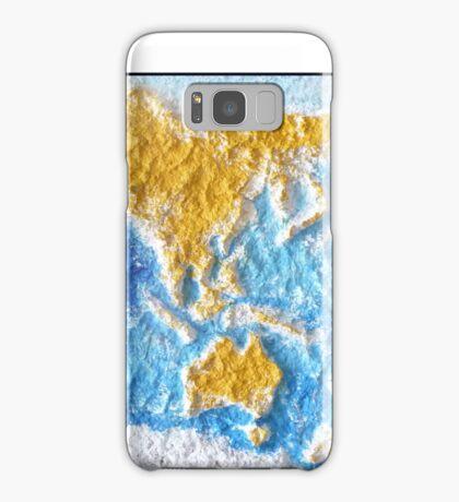 World Map - Recycled Samsung Galaxy Case/Skin
