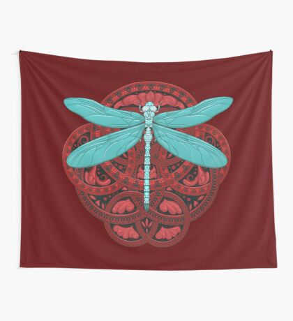 Dragonfly Fire Wall Tapestry