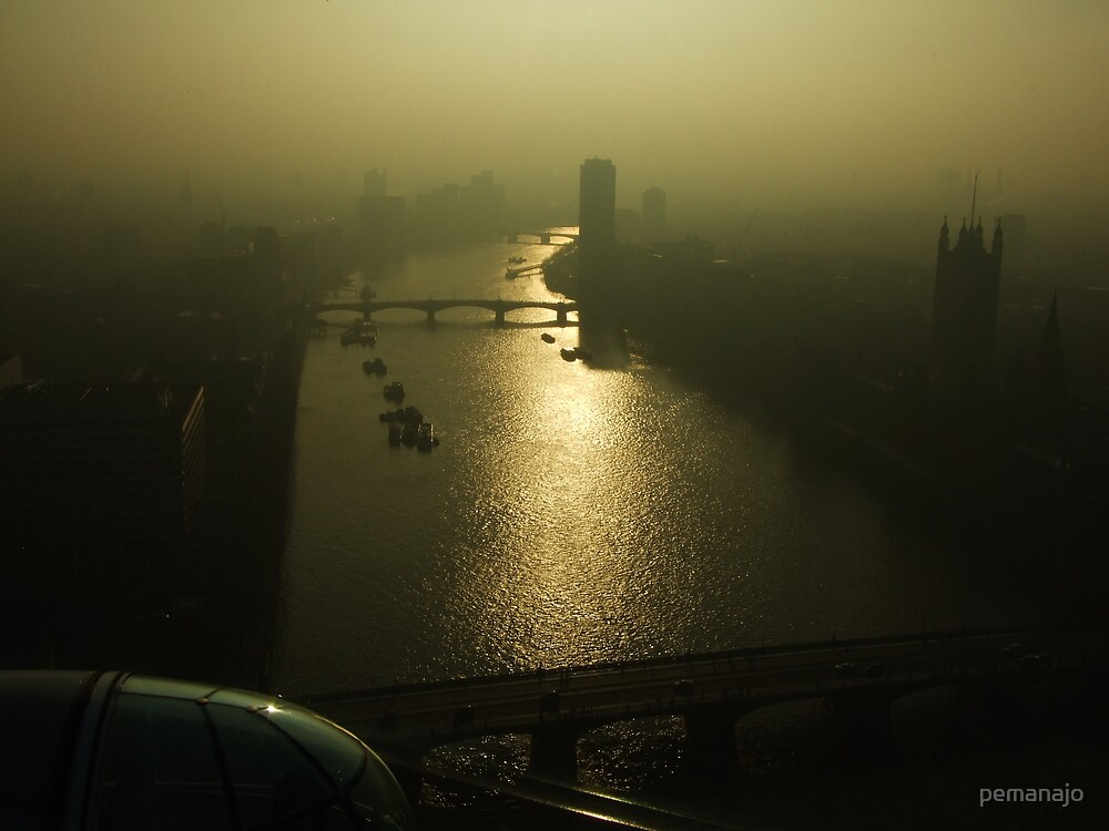 A Misty River Thames by pemanajo