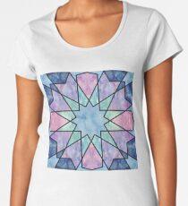 Azulejos de acuarela Camiseta premium para mujer