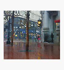 Market Street Corner Lights Photographic Print
