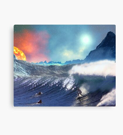 Surfing - not the USA Canvas Print