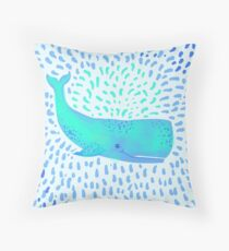 Whale dreams Throw Pillow