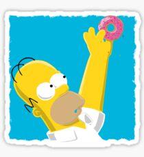 Simplistic Homer Simpson Sticker