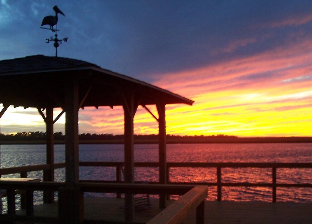 Sunset Deck by sadeyedpoet