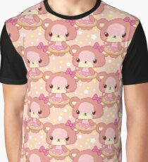Little cute Teddy Bear girl in donut Graphic T-Shirt