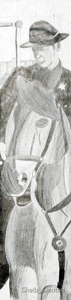 Guy on a horse by Shelby Denton