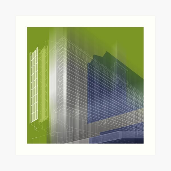 MANCHESTER Architectural Abstraction #02 Art Print