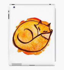 Watercolor cute drawing fox iPad Case/Skin