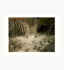 Gushing waters Art Print