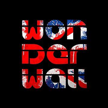 Wonderwall (UK flag) Oasis inspired T-Shirt by Moorean