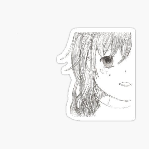 Crying girl Sticker