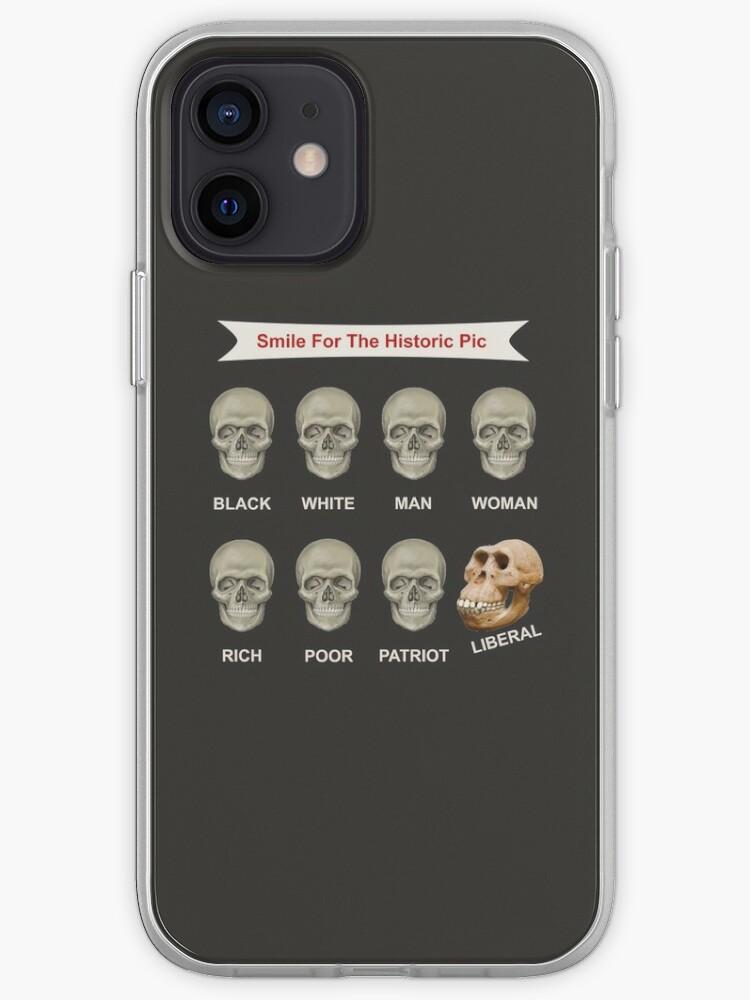 Noir Blanc Homme Femme Rich Pauvre Patriot Libéral 8 Skulls Shirt | Coque iPhone