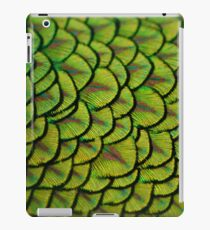Peacock Iridescent Shiny Yellow Tail Feathers Pattern iPad Case/Skin