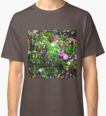 Stained Glass Wildflowers 1 by IdeaJones Classic T-Shirt