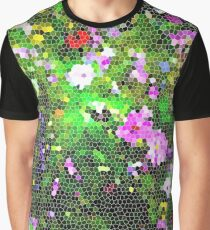 Stained Glass Wildflowers 1 by IdeaJones Graphic T-Shirt