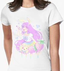 Pastel Bunny Women's Fitted T-Shirt