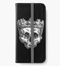 SKULL KING, DEATH, King of the Dead, Skull, Crown, on BLACK iPhone Wallet/Case/Skin