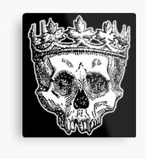 SKULL KING, DEATH, King of the Dead, Skull, Crown, on BLACK Metal Print