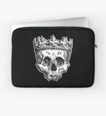 SKULL KING, DEATH, King of the Dead, Skull, Crown, on BLACK Laptop Sleeve
