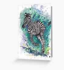 Spunk Punk Zebra Grußkarte