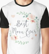 Best Mom Ever Boho Chic Bohemian Floral Wreath Graphic T-Shirt